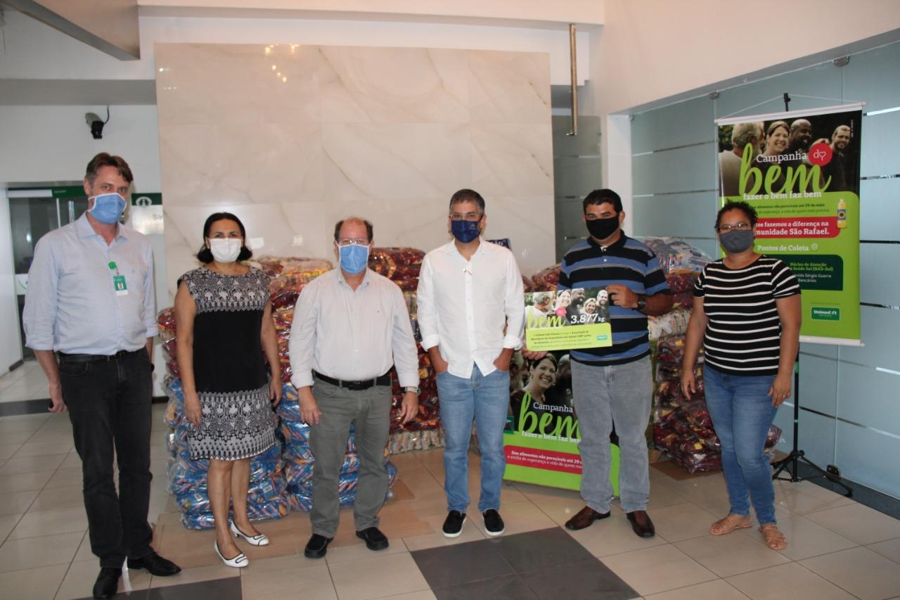 Unimed JP Campanha do Bem - Unimed JP entrega quase 4 toneladas de alimentos à Comunidade São Rafael