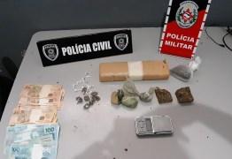 Polícias Civil e Militar realizam operação de combate ao tráfico de drogas e prendem cinco pessoas, na Paraíba