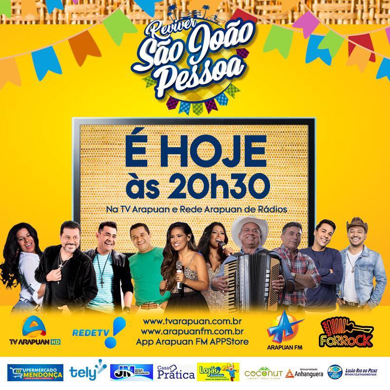 WhatsApp Image 2020 06 26 at 19.19.21 - Reviver São João Pessoa: Sistema Arapuan transmite os melhores momentos de shows de grandes bandas de forró