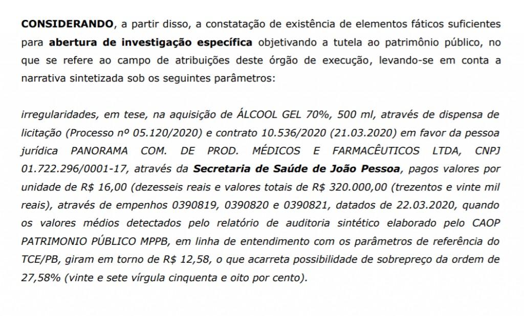 alcool 500 ml 1024x618 1 - ÁLCOOL EM GEL DE OURO: Prefeitura de João Pessoa comprou garrafão de 5 litros 30 reais mais caro