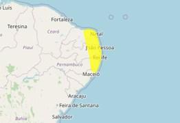 Inmet alerta para perigo potencial de acumulado de chuva em 91 cidades da Paraíba