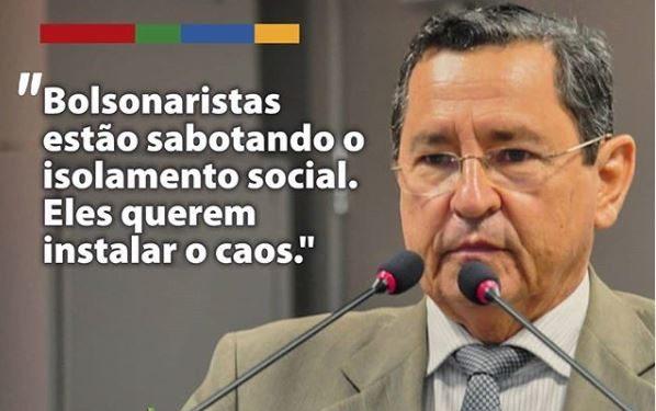 amisio 598x375 1 - Anísio Maia acusa grupos bolsonaristas na Paraíba de atiçarem quebra do isolamento para gerar o caos no estado