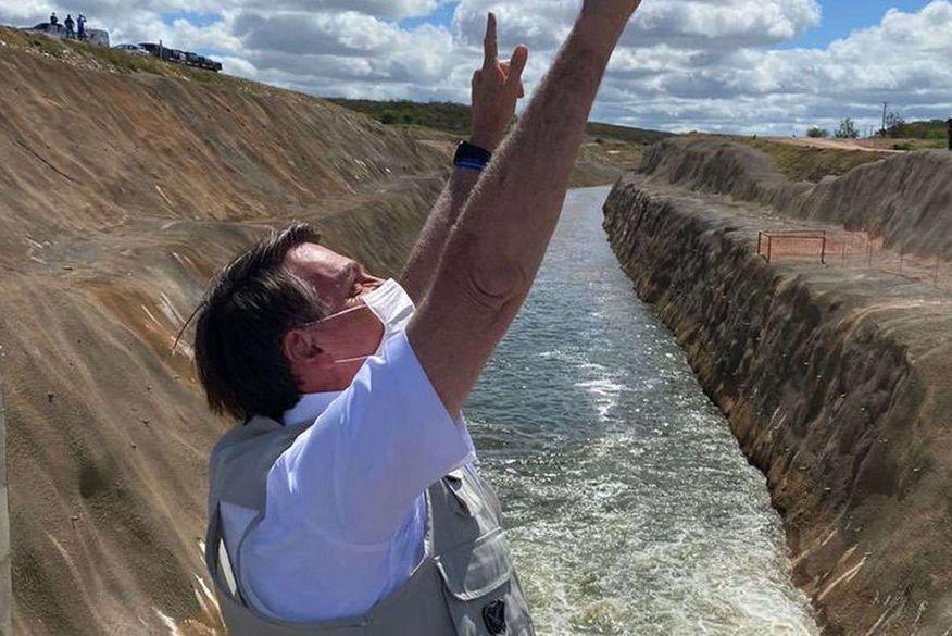 bolsonaro inaugura obras do sf - Bolsonaro inaugura obra do Rio São Francisco que irá beneficiar Paraíba