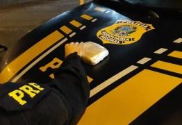 Polícia Rodoviária Federal prende suspeito e apreende 0,5 kg de crack em rodovia da Paraíba