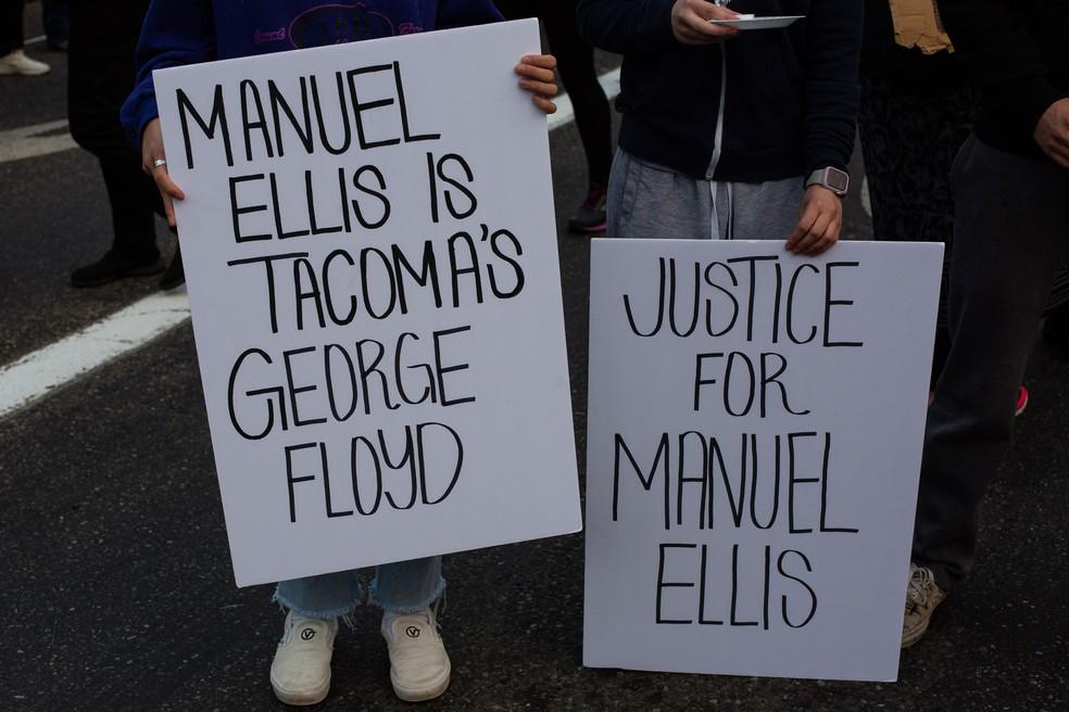 elliscartaz - Morte de homem negro por asfixia no estado de Washington será investigada
