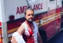 Homem viraliza ao aparecer tranquilo com uma faca enfiada na cabeça – VEJA VÍDEO