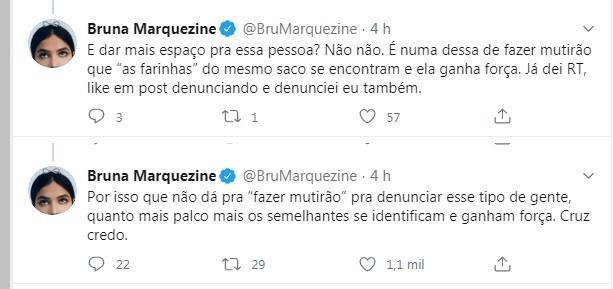 marquezine - Bruna Marquezine detona influencer autora de vídeo considerado racista