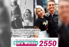 Presa, Sara Winter tem conta do Twitter suspensa após anunciar futuras ações de Bolsonaro