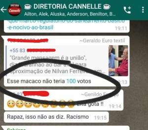 """racismo nilvan 300x264 - """"ESSE MACACO NÃO TERIA 100 VOTOS"""": Nilvan Ferreira é alvo de racismo em grupo de WhatsApp"""