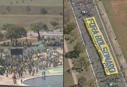 Grupos contra e a favor de Bolsonaro fazem atos em Brasília; Veja imagens