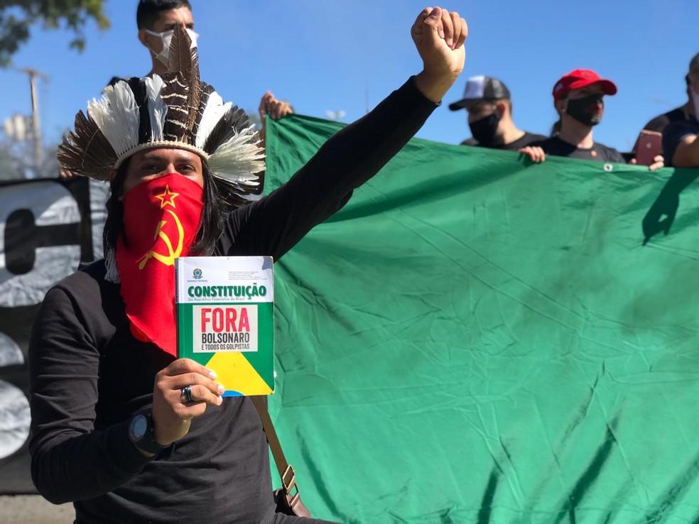 whatsapp image 2020 06 21 at 11.23.28 1  - Grupos contra e a favor de Bolsonaro fazem atos em Brasília; Veja imagens