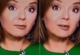 Apresentadora perde o dente ao vivo durante telejornal; VEJA VÍDEO
