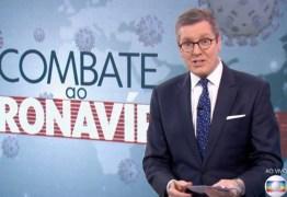 Márcio Gomes arranca elogios dos espectadores após cobertura diferenciada sobre a covid-19 no JN