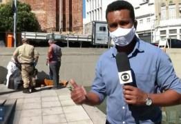 Repórter faz entrada ao vivo após resgatar homem eletrocutado; VEJA VÍDEO