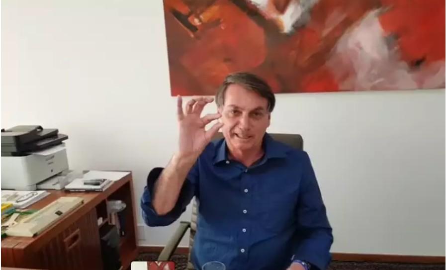 Capturar 15 - Com coronavírus, Bolsonaro toma hidroxicloroquina e diz que confia na medicação - VEJA VÍDEO