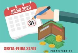 Prefeitura de Conde paga salários de julho nesta sexta-feira