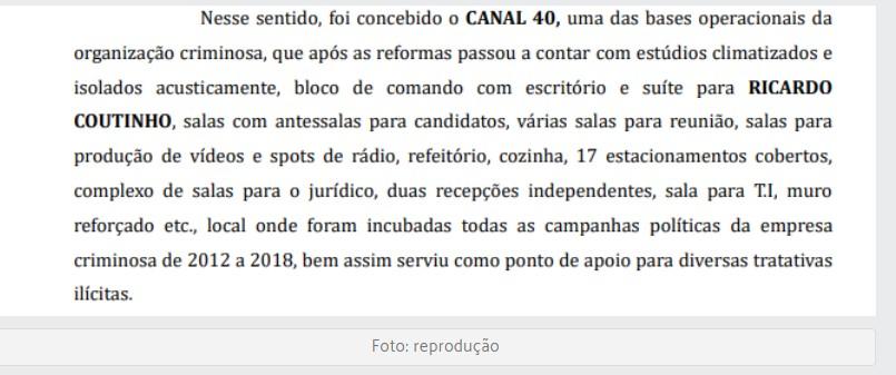 RC - Prejuízo de R$ 1,6 milhão: MP denuncia ex-governador Ricardo Coutinho e mais 6 por lavagem de dinheiro com o canal 40