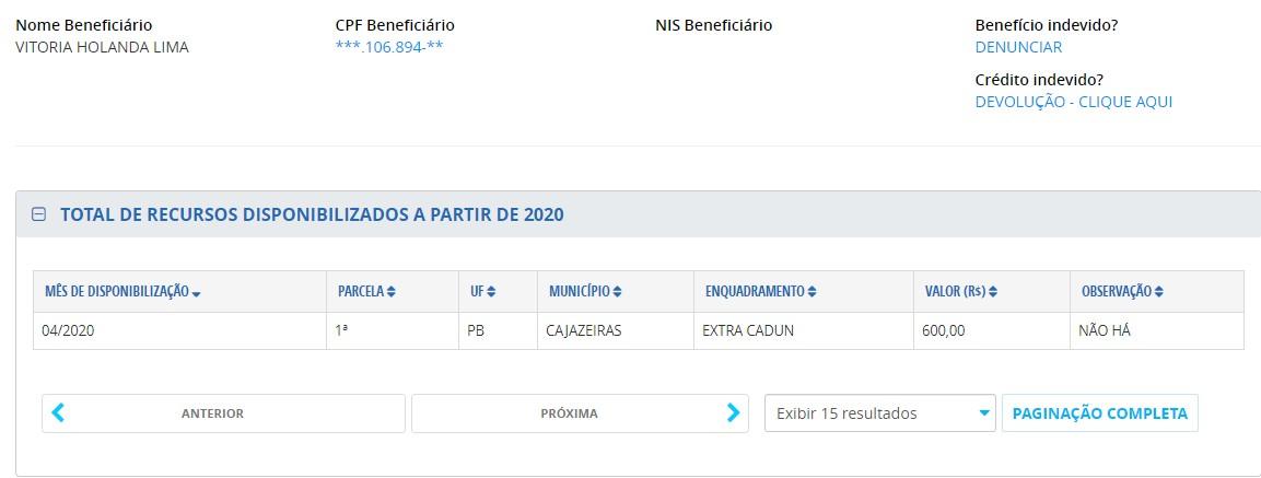 Vitória Holanda Lima 2 - Recém-nomeada para a direção do Hospital Regional de Cajazeiras, filha de vereador aparece em lista do auxílio emergencial
