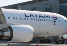 Avião da Latam arremete e passa 30 minutos tentando pousar no Aeroporto Castro Pinto