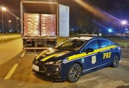 PRF apreende carga de cerveja sem documentação fiscal avaliada em R$ 100 mil, na Paraíba