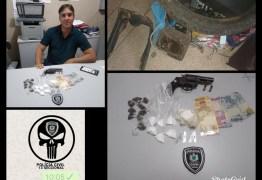 Polícia Civil prende dois e apreende menor por tráfico de drogas em Barra de Santa Rosa