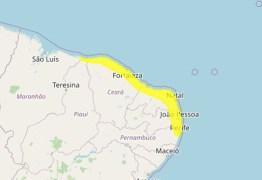 Inmet emite alerta de acumulado de chuva para João Pessoa e mais 55 municípios