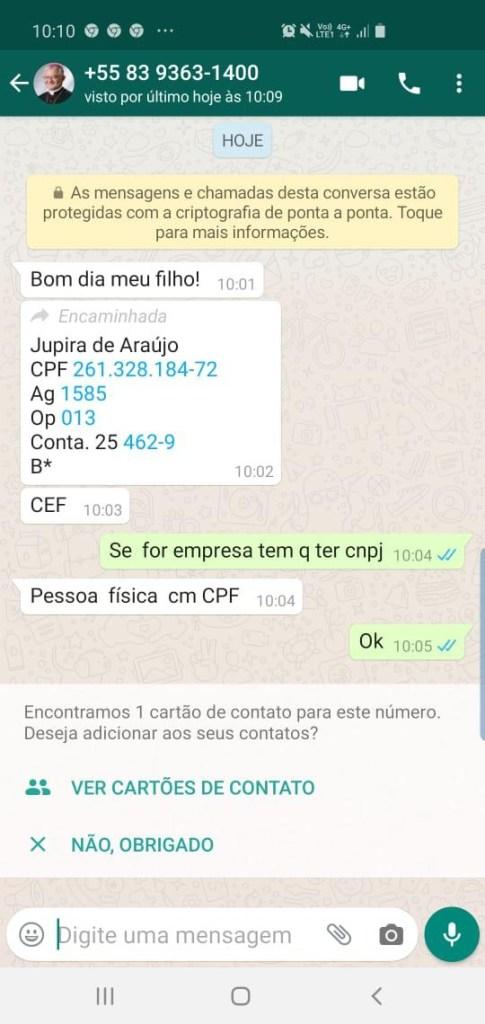 d053bbac c9c8 44ba bd50 4fe2879c8cb3 485x1024 - GOLPE NO WHATSAPP: Falsário pede dinheiro a deputados paraibanos em nome de Dom Delson, arcebispo da Paraíba