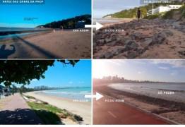 """DENÚNCIA: grupo """"Amigos do Cabo Branco"""" afirmam que obra da prefeitura na barreira não tem licença ambiental"""