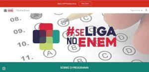 """se liga no enem 300x145 - Programa """"Se Liga no Enem"""" lança edital com 3.500 vagas abertas na Paraíba"""