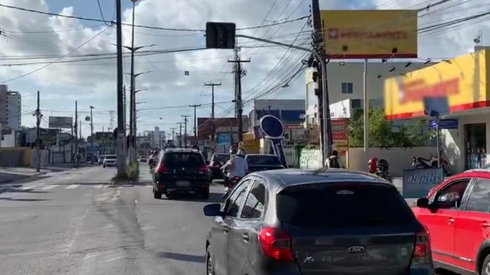semaforo apagado - Falha técnica deixa bairros de João Pessoa sem energia