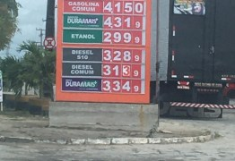 Preço da gasolina sobe quase 6% em um mês em Campina Grande