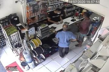 violencia 1 - Técnico de enfermagem é esfaqueado em fila de loja em João Pessoa; VEJA VÍDEO