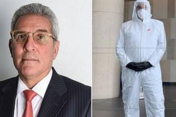 Advogado vai a audiência em tribunal usando vestimenta anticoronavírus