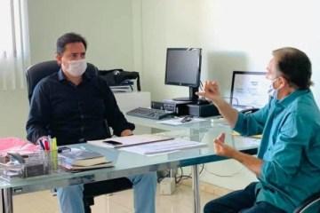Em reunião com Secretário, prefeito de Pedras de Fogo solicita aumento do efetivo policial e reforço da segurança na Zona Rural