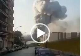 Vídeos mostram momento da explosão que causou destruição em Beirute – CONFIRA