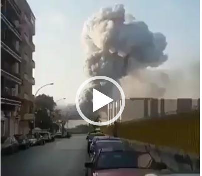 Capturar 6 - Vídeos mostram momento da explosão que causou destruição em Beirute - CONFIRA