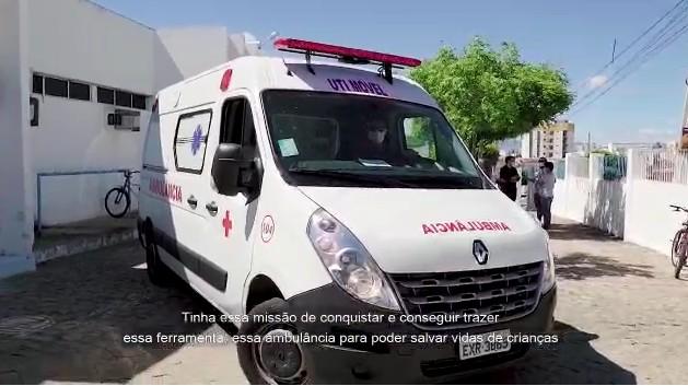 Capturarmkk - Deputado estadual Dr. Érico consegue UTI Móvel para o Hospital Infantil Noaldo Leite - VEJA VÍDEO