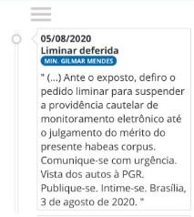 GILMAR MENDES DECISÃO - CALVÁRIO: Gilmar Mendes determina retirada de tornozeleira eletrônica de Ricardo Coutinho; VEJA TRECHO DE DECISÃO