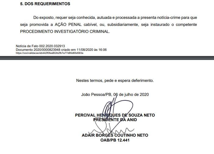 NOTÍCIA CRIME 2 - NOTÍCIA-CRIME: associação denuncia Brisanet ao Ministério Público por suposta sonegação com prejuízo estimado em R$ 14 milhões por ano na Paraíba