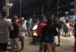 Polícia Militar encerra aglomeração com música e bebedeira no Busto de Tamandaré
