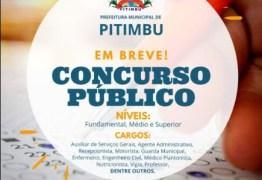 Prazo de inscrição dos concursos públicos da Prefeitura de Pitimbu e Idib termina no próximo domingo