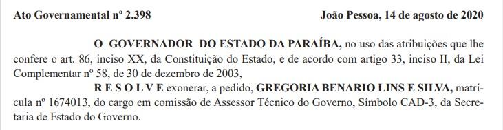 exoneracao pcdob - Presidente estadual do PCdoB é exonerada do cargo no governo João Azevêdo