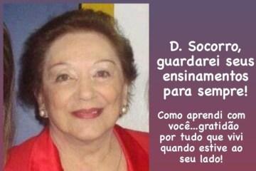 sos e1596993515370 - Vítima da Covid-19: Morre em Campina Grande a empresária e educadora Socorro Farias