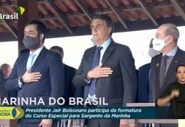 Evento da Marinha com presidente tem protesto de militares: 'Bolsonaro traidor'