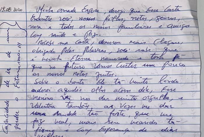1 cartaelias 19746468 - Filha de Elias Maluco mostra carta e diz que pai não se suicidou: 'Mataram ele'