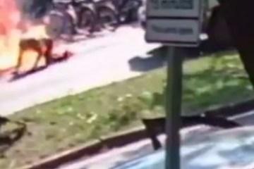 716ba936ea797dfd2bb9308bb76a082b - Idoso cai de moto e veículo explode após vazamento do combustível
