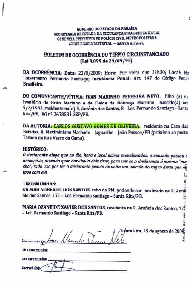 9973c96c 3b35 47b1 ba24 e6e1a7362d81 - IMAGENS FORTES: Candidato a vereador de João Pessoa 'Guga de Jaguaribe' agride e ameaça morador do bairro de Jaguaribe