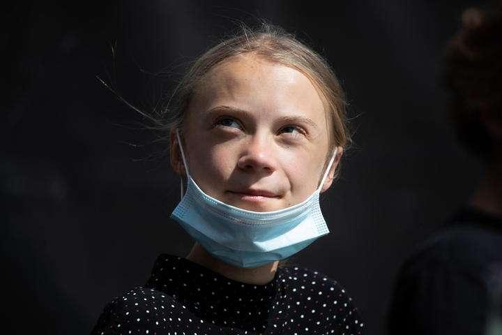 BB18FWPJ - Greta Thunberg falará no Festival de Veneza durante recreio na escola