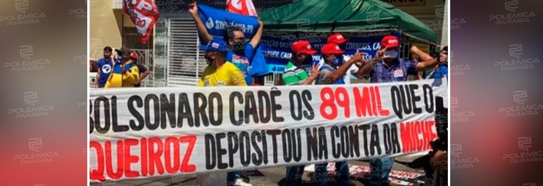 WhatsApp Image 2020 09 17 at 13.45.00 - EM COREMAS: manifestantes protestam contra Bolsonaro e exibem faixa questionando depósitos de Queiroz - VEJA VÍDEO