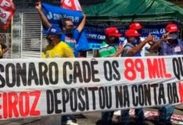 EM COREMAS: manifestantes protestam contra Bolsonaro e exibem faixa questionando depósitos de Queiroz – VEJA VÍDEO